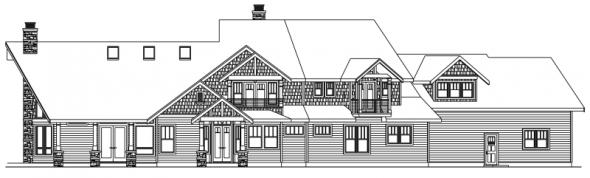 Brookport - 30-692 - Estate Home Plan - Rear Elevation