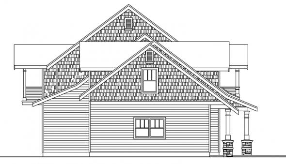 Brookport - 30-692 - Estate Home Plan - Left Elevation