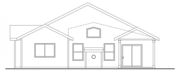 Westwood - 30-693 - Craftsman Home Plan - Rear Elevation