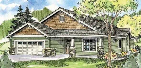 Westwood - 30-693 - Craftsman Home Plan - Front Elevation
