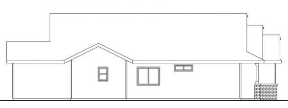 Barlow - 30-694 - Cottage Home Plan - Left Elevation
