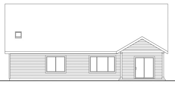 Allenspark - 30-700 - Cottage Home Plan - Rear Elevation