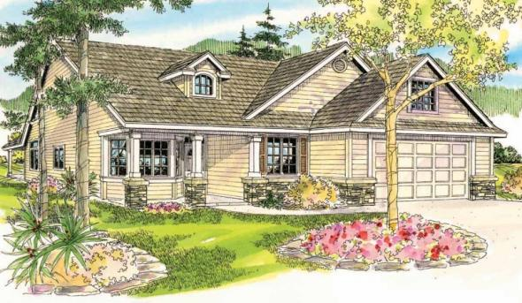Allenspark - 30-700 - Cottage Home Plan - Front Elevation