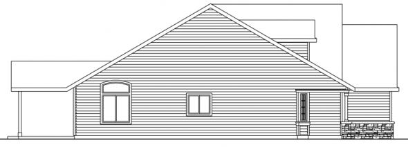 Allenspark - 30-700 - Cottage Home Plan - Left Elevation