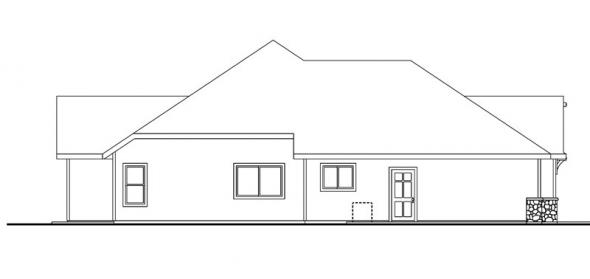 Dalneigh - 30-709 - Cottage Home Plan - Left Elevation