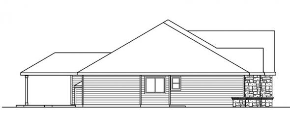 Littlefield - 30-717 - European Home Plan - Left Elevation