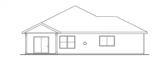 Logan - 30-720 - Craftsman Home Plan - Rear Elevation