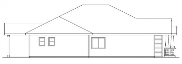 Logan - 30-720 - Craftsman Home Plan - Left Elevation