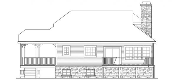 Eagle Creek - 30-725 - Cottage Home Plan - Left Elevation