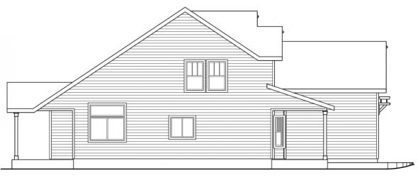 Elkhorn - 30-733 - Cottage Home Plan - Left Elevation
