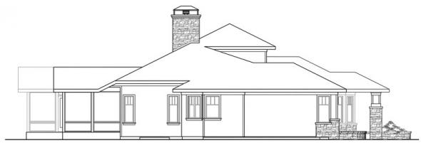 Metolius - 30-746 - Prairie Home Plan - Left Elevation