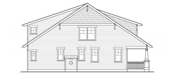 Blue River - 30-789 - Bungalow Home Plan - Left Elevation
