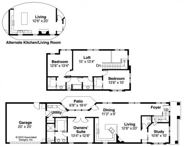 Rock Creek II - 30-820 - Townhome Plan - Floor Plan