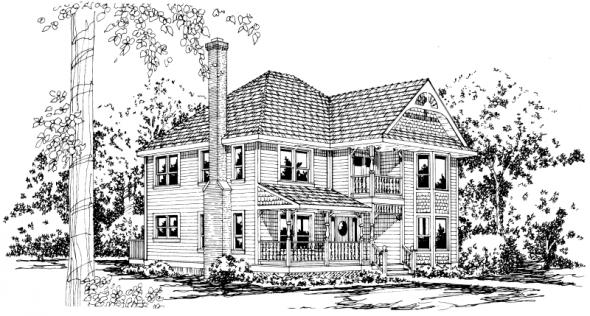 Astoria - 41-009 - Victorian Home Plans - Front Elevation