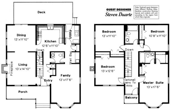 Astoria - 41-009 - Victorian Home Plans - Floor Plan