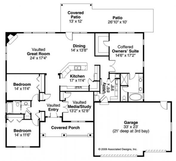 Green Valley - 70-005 - Green Standard Home Plans - Floor Plan