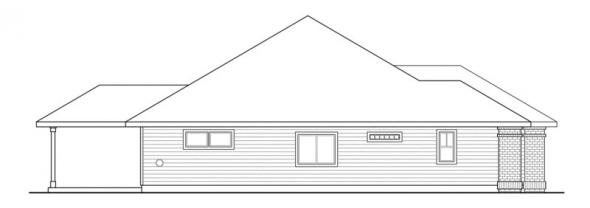 Green Valley - 70-005 - Green Standard Home Plans - Left Elevation