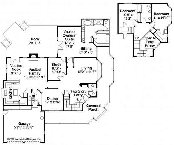 Hearthstone - 10-200 - Country Home Plan - Floor Plan