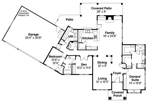 Chatsworth - 30-227 - Mediterranean Home Plan - Floor Plan