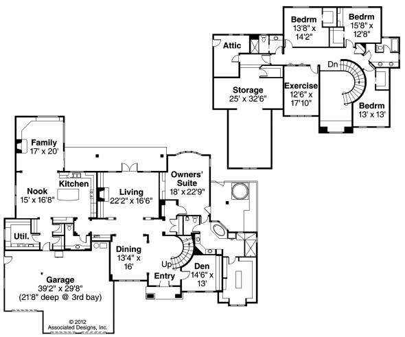 Avalon - 30-306 - Estate Home Plan - Floor Plan