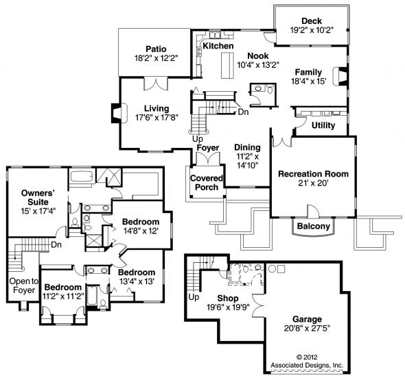 Marseille - 30-421 - European Home Plan - Floor Plan
