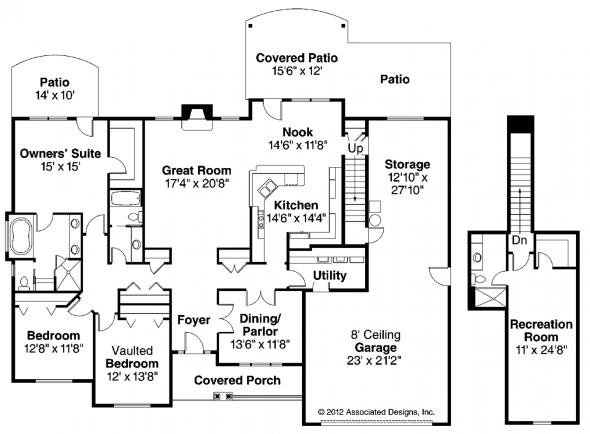 Littlefield - 30-717 - European Home Plans - Floor Plan