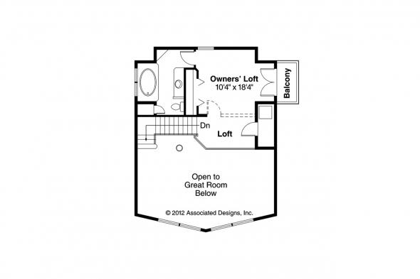 A-Frame House Plan - Arnett 30-419 - 2nd Floor Plan