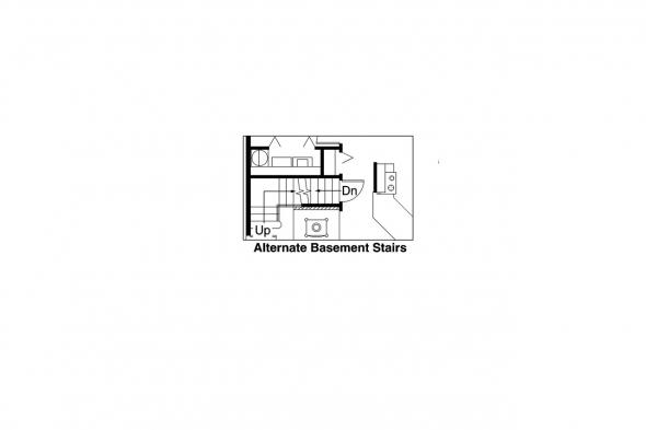 A Frame Home Plan - Arnett 30-419 - Alternate Basement Option