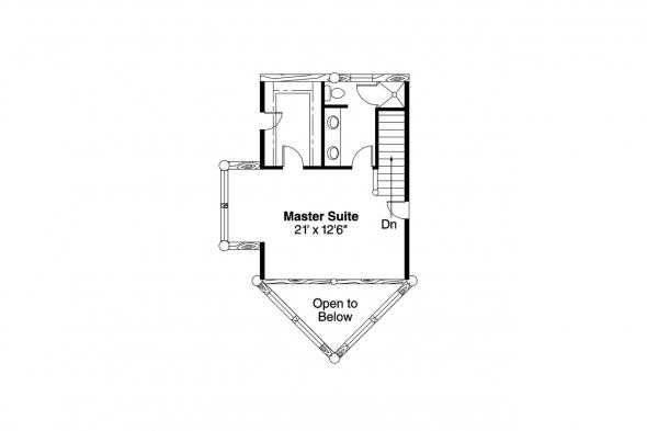 A-Frame House Plan - Sylvan 30-023 - 2nd Floor Plan