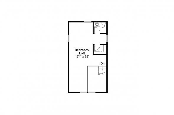 Bungalow House Plan - Alvarado 41-002 - 2nd Floor Plan
