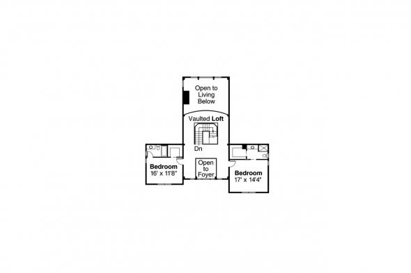 Bungalow House Plan - Colorado 30-541 - Second Floor Plan