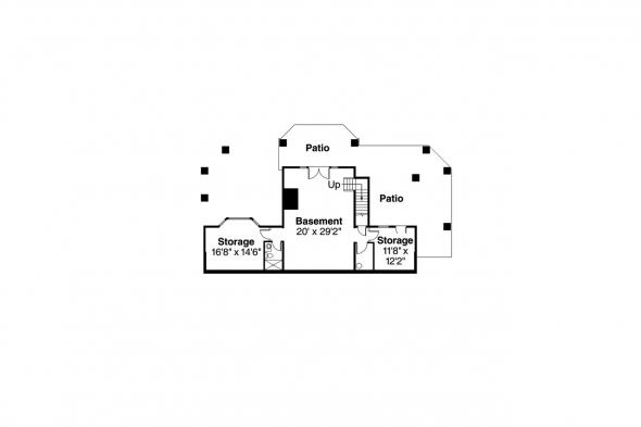 Bungalow House Plan - Colorado 30-541 - Basement