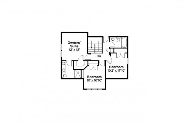 Bungalow House Plan - Richardson 30-102 - 2nd Floor Plan
