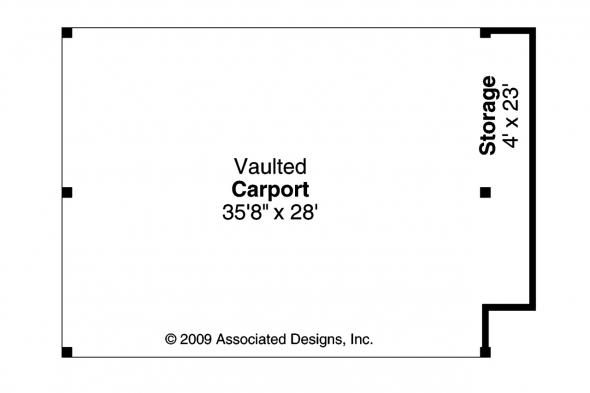 Carport Plan 20-048 - Floor Plan
