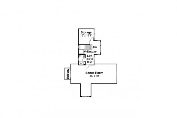 Chalet House Plan - Missoula 30-595 - 2nd Floor Plan