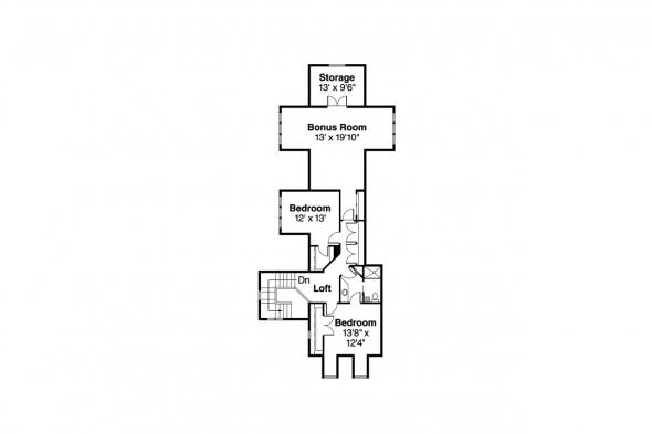 Chalet House Plan - Oxford 30-451 - 2nd Floor Plan
