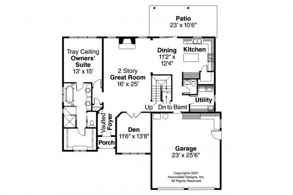 Chateau House Plan - Heartison 10-540 - 1st Floor Plan