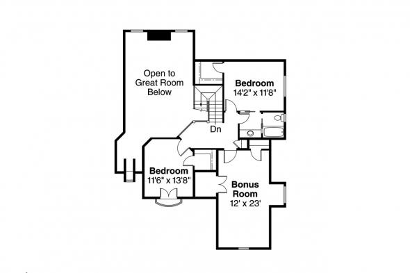 Chateau House Plan - Heartison 10-540 - 2nd Floor Plan