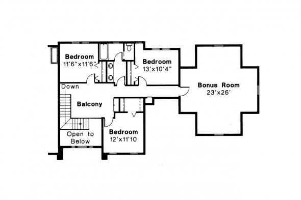 Classic House Plan - Greenville 30-028 - 2nd Floor Plan