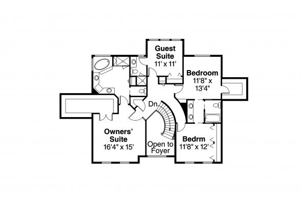 Classic House Plan - Kersley 30-041 - 2nd Floor Plan