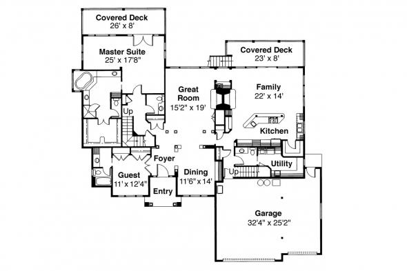 Classic House Plan - Merritt 30-145 - 1st Floor Plan