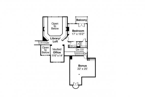 Classic House Plan - Merritt 30-145 - 2nd Floor Plan