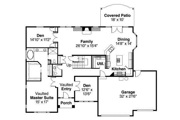 Classic House Plans - Remmington 30-460 - 1st Floor Plan
