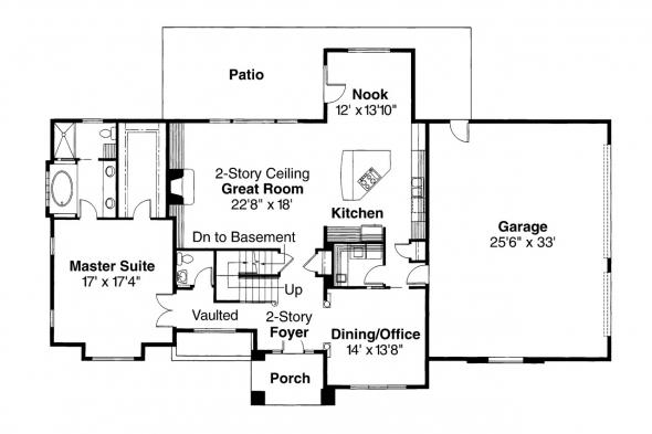 Classic House Plan - Richfield 10-352 - 1st Floor Plan