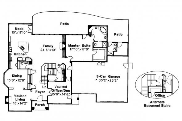 Classic House Plan - Stirling 10-242 - 1st Floor Plan