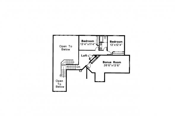 Classic House Plan - Stirling 10-242 - 2nd Floor Plan