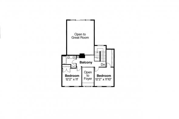 Colonial House Plan - Cobleskill 10-356 - 2nd Floor Plan