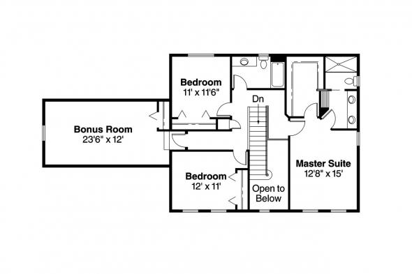 Colonial House Plan - Ellsworth 30-222 - 2nd Floor Plan