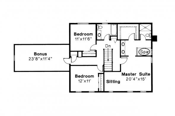 Colonial House Plan - Westport 10-155 - 2nd Floor Plan