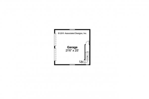 Contemporary Home Plan - Fairview 51-008 - 2nd Floor Garage Plan